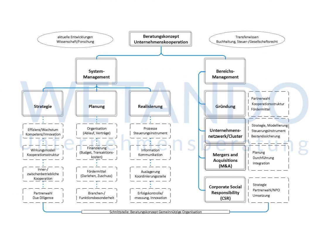 Leistungen Schema - Unternehmenskooperation
