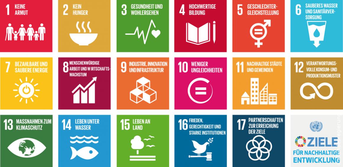 17 Nachhaltigkeitsziele (SDGs)
