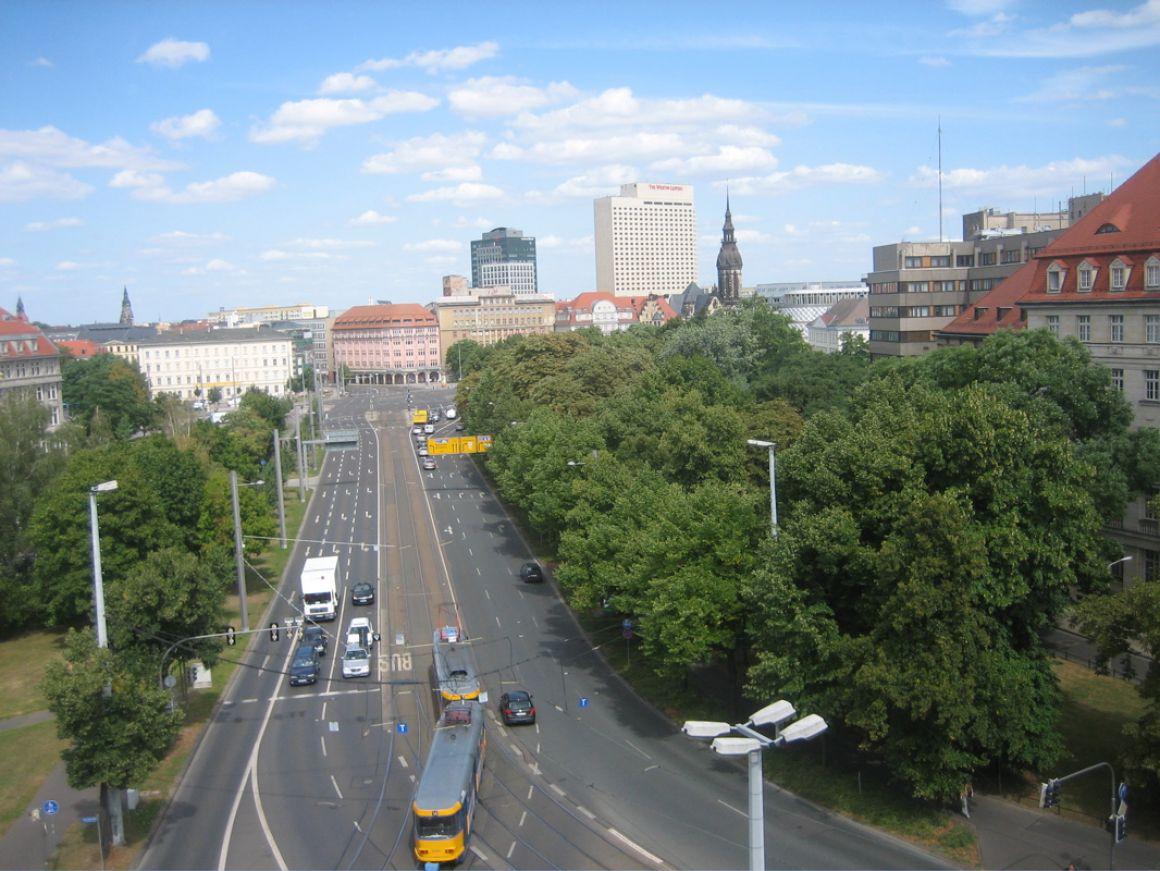 Blick Richtung Zentrum Nord Leipzig