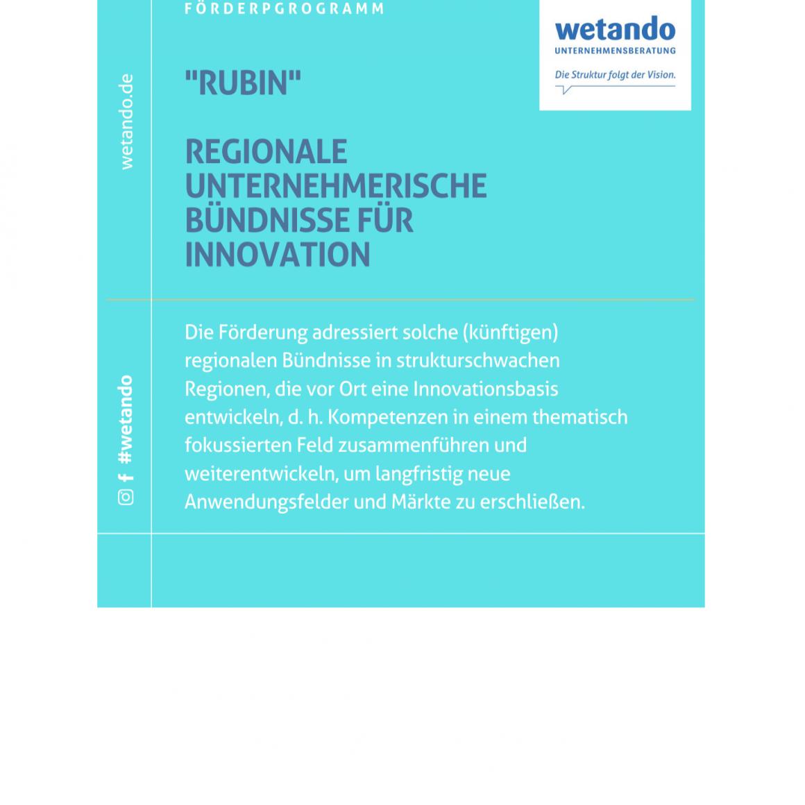 Förderung regionaler Unternehmensbündnisse